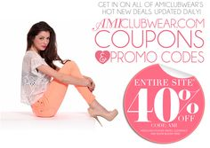 AMIclubwear is a leading online retailer of fashionable and contemporary apparel, shoes and accessory items. We have got a wide range of AMIclubwear Discount coupon codes offers and deals where you can save money when you select AMIclubwear women's fashion apparel, shoes and accessory Collection with our AMIclubwear Coupons.   #AMIclubwearCoupons #AMIclubwearPromocodes #AMIclubwearPromo #AMIclubweardeals #AMIclubwearCouponcodes