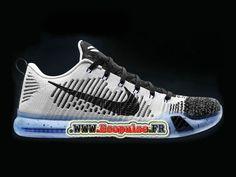 Nike Bryant10 Chaussures de basket-ball officielles bon marché pour Homme Blanc / Noir 805937-10