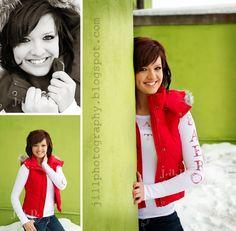 Senior photography posing bright colors