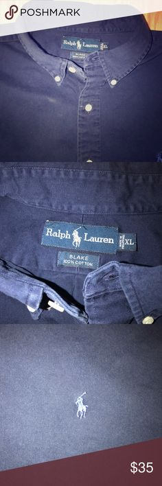 70fefece07 💥Vintage Ralph Lauren Button-Down Blake Shirt Size: XL Color: Navy / Blue  Material: Cotton Item is Vintage and in Excellent condition.