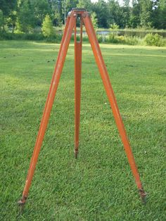 VTG W GERMANY WOOD TRANSIT TRIPOD SURVEY LEVEL DIETZ? KEUFFEL & ESSER? GURLEY?