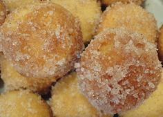 BAKED donut holes in browned butter and cinnamon-sugar...holey delicious.