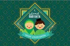 hari raya greeting vector - Illustrations
