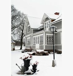 Vackra: Advent Scandinavian Home, My Dream, Advent, Mansions, Interior Design, House Styles, Dream Homes, Shabby, Snow
