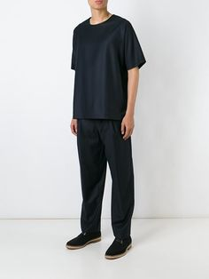 E. Tautz pleated trousers with belt loop