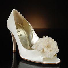 something bleu corsage ivory  Wedding Shoes