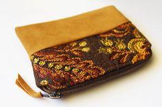 Hippie Leaf Purse Zipper Card Holder Coin Purse Change