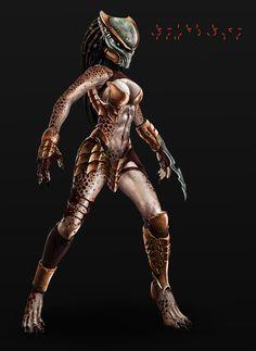 Female Predator Art Concepts   Predator (Yautja) female by Prohibe