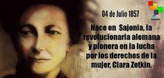 #EfeméridesteleSUR: En 1857, nace la revolucionaria alemana y luchadora por los derechos de la mujer , Clara Zetkin pic.twitter.com/5LW73diPcm