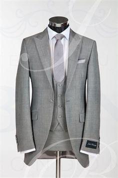 Light Gray Tailcoat Peaked Lapel One Custume Made Men Suits Elegant Popular Slim Terno Wedding Tux, Wedding Attire, Wedding Dresses, Wedding Ideas, Budget Wedding, Groom And Groomsmen Attire, Groom Wear, Look Formal, Sharp Dressed Man