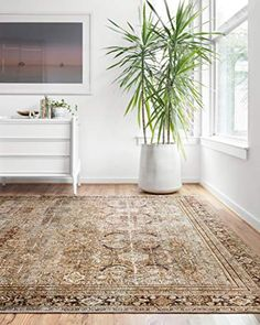 "Loloi ll Layla Collection Printed Vintage Persian Area Rug 9'0"" x 12'0"" Olive/Charcoal Loloi ll"