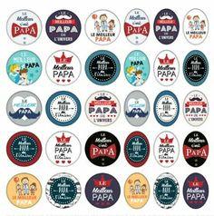 Meilleur papa Bottle Cap Images, Bottle Caps, Creation Bougie, Bottle Top Crafts, Cadeau Parents, Silhouette Portrait, Holidays And Events, Project Life, Fathers Day