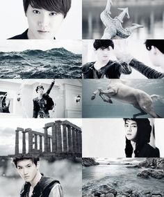 EXO as demigods → Suho as the son of Poseidon by viitakissme