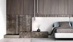 Bed Design, Wall Design, Furniture Layout, Furniture Design, Interior Architecture, Interior Design, Headboards For Beds, Interior Inspiration, Master Bedroom