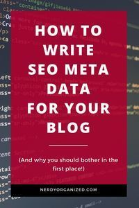 Wondering what SEO meta data is, or why it's important? This post walks you through how to get tons of free traffic from Google with this easy, 5 minute SEO hack!! #blogging #SEO #seotips #onlinebusiness #entrepreneur #blogseo