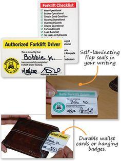 Forklift License Template Wallet Size - NextInvitation ...