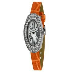 """(Golden Classic Women's 5146 Orange  """"Spring Fling"""" Rhinestones Bezel Leather Band Watch - orderwatchsite, also amazon)  the related yin yang personality/color/style systems have similar jewelry recommendations. several authors recommend for #winter / #type4  = oval, polished silver, large size, contrast, stillness, faceted stones with sparkle. video, photo on hand on amazon."""
