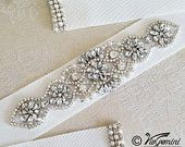 GROSGRAIN Bridal sash, Wedding sash, Bridal belt, crystal sash, rhinestone sash, wedding dress sash, wedding gown belt