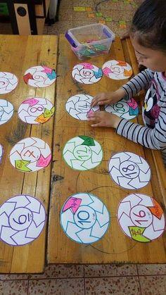 Lock & Key Addition Puzzles for Kids - fun hands-on STEM math idea! Math Classroom, Kindergarten Math, Teaching Math, Math Math, Math Games, Preschool Activities, Math Addition, Repeated Addition, Montessori Math