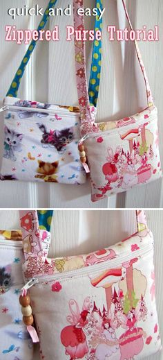 zippered tutorial purses purse easy bags Easy Zippered Purse Tutorial You can find Purse tutorial and more on our website Diy Bags Purses, Cute Purses, Purses And Handbags, Big Purses, Cheap Handbags, Cheap Purses, Patchwork Bags, Quilted Bag, Kids Purse