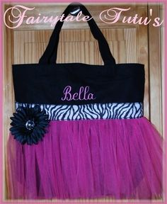 Items similar to Adorable Personalized Dance Bag for your Princess Ballerina  great for dance class 6e069b4c6fb66