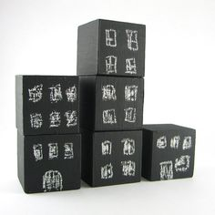 Black Chalkboard Blocks