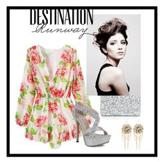 """Destination Runway with bebe : Contest Entry"" by emmie199802 ❤ liked on Polyvore featuring Edie Parker, Angelo, Bebe and beiconic"