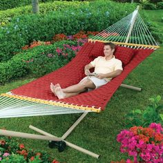 Quilted-Weave is softer and cooler than ordinary hammocks! It will quickly become your favorite summer hangout.