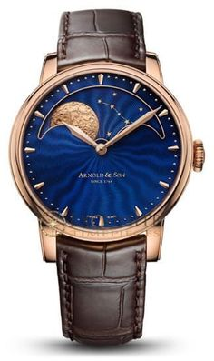 Arnold & Son Goes to the Moon in a Big Way at This Year's BaselWorld Fair-Stephen Silver Fine Jewelry - SH Silver Co. Fine Watches, Cool Watches, Rolex Watches, Latest Watches, Dream Watches, Arnold Son, Moonphase Watch, Patek Philippe Aquanaut, Tourbillon