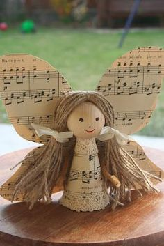 add to angel collection! sheet music paper angel!.