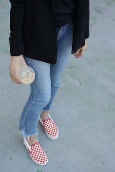 2b2ad5ac7b6c6 Mia Liamani - checkered vans Checkered Vans Outfit, Superga Sneakers, Vans  Slip On