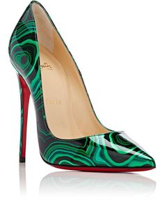 64351e7a082 Summer Beauty Show Christian Louboutin Green and Black Malachite-Print  Patent Leather  So Kate  Pumps (The Fashion Bomb Blog)