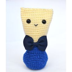 Sparkly Blue Bassoon Reed Doll w/Navy Bowtie Basson, Oboe, Music Humor, Embroidery Thread, Grosgrain, Great Gifts, Crochet Hats, Handsome, Etsy Shop