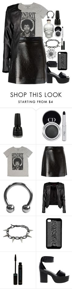 """""""You are the one I want, and I what I want is so unreal."""" by siennabrown ❤ liked on Polyvore featuring China Glaze, Christian Dior, Fifth Sun, MICHAEL Michael Kors, Boohoo, Joomi Lim, ASOS, Dark, rock and gothic"""