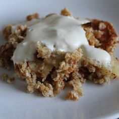 Kauraomenapaistos - Kotikokki.net - reseptit 20 Min, Sweet Tooth, Oatmeal, Deserts, Goodies, Pie, Baking, Breakfast, Recipes