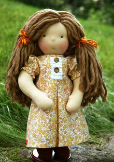 Petit Gosset Handmade Doll 15 inch  RESERVED for by NobbyOrganics