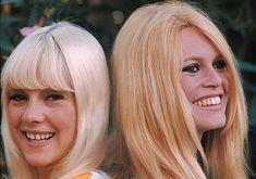 Sylvie Vartan and Brigitte Bardot. Photograph by Jean-Marie Perier. 1967