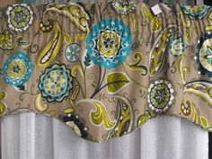 Window valance lined by LaTeDaWindows on Etsy