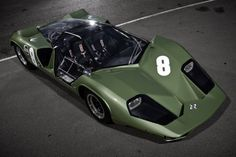 1968 Marcos Mantis XP Started out with a 3 liter Repco Brabham Formula One engine. Intended for racing at Le Mans but never competed there.