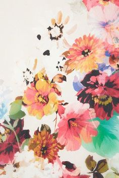 Floral Oversized Tee // this would make a pretty sleeve | Things ...