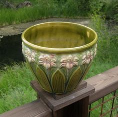 Brush McCoy Amaryllis Pottery Jardiniere, $119. Available at RiverHouseArtPottery.etsy.com