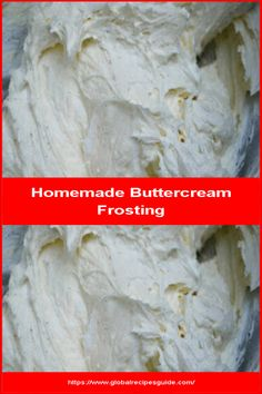 Homemade Buttercream Frosting - Daily World Cuisine Recipes Homemade Buttercream Frosting, Whats Gaby Cooking, Pancake Cake, Heavy Whipping Cream, Daily Meals, What To Cook, Meal Ideas, Tasty, Baking
