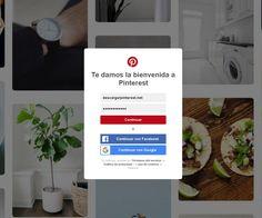 Iniciar sesion de Pinterest