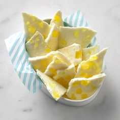 Lemon Bark Recipe -I wasn't a fan of white chocolate until I made this candy. It's tangy, sweet and creamy all at the same time. The bark was a lovely treat during a springtime shower but would be nice year-round. —Diana Wing, Bountiful, Utah