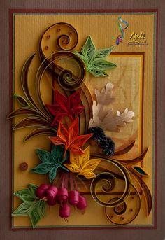 neli: Quilling card - ( 10.5 cm - 15 cm ) - autumn