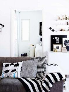 decorar en blanco y negro
