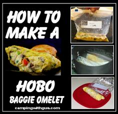 See how easy this camping breakfast meal is. 3 steps and your baggie omelet is ready.