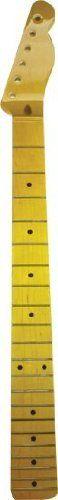 "Fender Licensed Guitar Neck For Telecaster, Vintage Spec, Maple Fretboard by Fender Licensed. $160.00. Fender Licensed Vintage Spec Replacement Guitar Neck for TelecasterMaple with black dot inlays on Maple fretboard. Heel width: 2-3/16"" (standard American Fender.) Scale Length: 25.5"". Modern ""C"" shape profile. Nut Width: 1-5/8"" (Nut not included.) * 21 Medium Jumbo Frets* Single-action Heel Adjust Truss Rod* Maple Neck with Skunk Stripe* Maple Fretboard. 10"" Radius* Nut Widt..."
