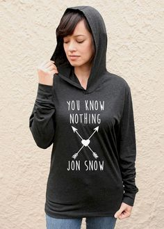 You Know Nothing Jon Snow arrows long sleeve hoodie by JustATeez