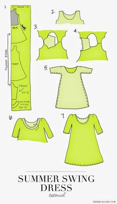 Cheap Swing Dress Pattern At Dresses For Kids Design Ideas - brilliant Dresses Inspiring ideas. swing dress pattern - Dresses for Women Sewing Dress, Diy Dress, Sewing Clothes, Diy Clothes, Diy Couture, Style Couture, Sewing Hacks, Sewing Crafts, Sewing Projects